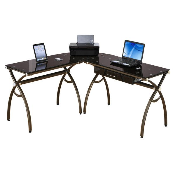 Techni Mobili L-Shaped Computer Desk