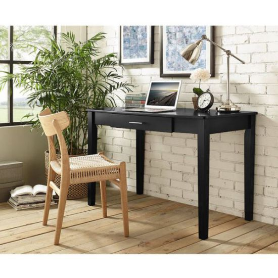 WE Furniture Retro Wood Computer Desk, 48 inch, Black