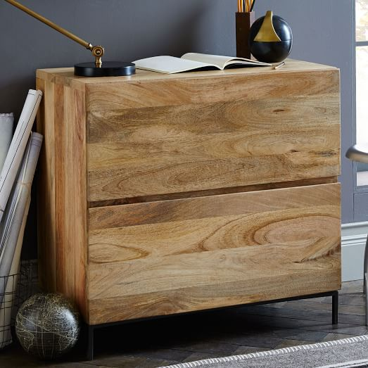 West Elm industrial modular lateral file cabinet