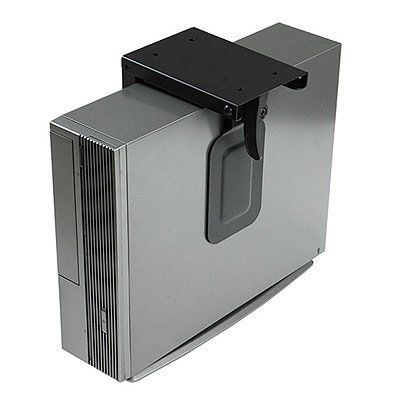 Ziotek Under Desk Stationary Mini CPU Holder Computer Mount, CS-50, Fits Up To 4 Inch x 14 Inch Cases